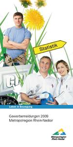 "Titelblatt Flyer ""Gewerbemeldungen 2009 Metropolregion Rhein-Neckar"""