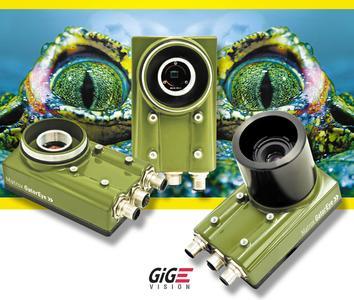 Matrox GigE Vision CCD-Kameras für Bildverarbeitung können direkt in rauen Umgebungen und im Nassbereich in der Automobil-, Lebensmittel-, Getränke-, Chemie- und Pharmaindustrie, in der Stahlverarbeitung, im Hygienebereich, im Recycling uvm.eingesetzt werden.