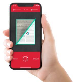 The Scanbot SDK app scans, edits, sends and synchronizes documents, QR Codes, barcodes, and much more using only a smartphone.   Die Scanbot SDK App fokussiert sich auf das Scannen, Bearbeiten, Versenden und Synchronisieren von Dokumenten, sowie auf das Lesen von Bar- und QR-Codes.