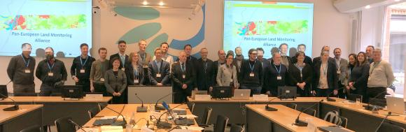 CLC+ Backbone consortium together with EEA, EAGLE and ETC ULS teams (photo: M. Probeck, GAF