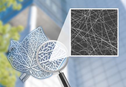 Freiform OPV-Modul von OPVIUS auf Basis eines transparenten, leitfähigen Foliensubstrats von TPK, beschichtet mit Cambrios ClearOhm® Silbernanodrähten