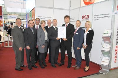 Übergabe ISO 27001 Zertifikat