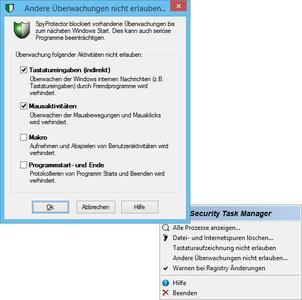 Screenshot: SpyProtector (568 x 565 Pixel)