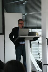 Moderator und Stadionsprecher Christian Stoll