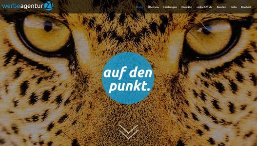Relaunch Website Werbeagentur 21