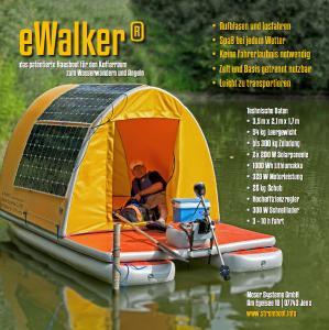 eWalker® - das aufblasbare Hausboot für den Kofferraum