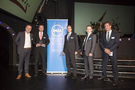 "Übergabe des Dell Award ""Service Partner des Jahres 2014"" an  Prometheus GmbH"