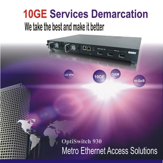 MRV announces industry's first 10-Gigabit Ethernet demarcation device for Metro Ethernet  access services