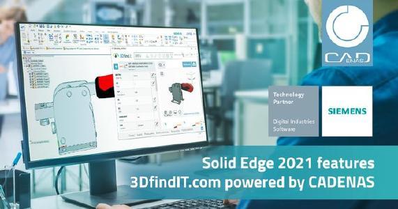 CADENAS implementa 3DfindIT.com in Solid Edge 2021 per velocizzare i tempi di progettazione
