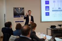 Benjamin Schröder, Head of Development und Support bei KGS, auf dem Meet up bei der WWK Versicherung München. Foto Zscheile