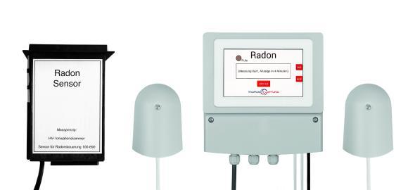 Produktfoto der Radonlüftung mit Feuchtesensoren als auch Radonsensor.