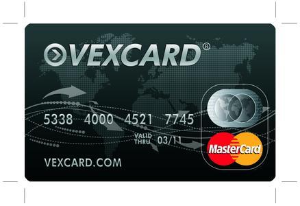 VEXCARD MasterCard