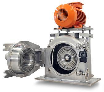 Die Stiftmühle UM315 von Anutec dreht sich mit einer Geschwindigkeit von bis zu 10.000 U/min