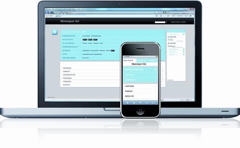 Zugriff auf alle wichtigen Daten per Desktop PC und Smartphone