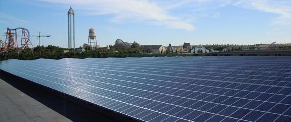 Solar Carport Warner Brothers, Madrid, Spanien