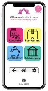So könnte die App aussehen, die von Studierenden der Hochschule Aalen mit belisa Böbingen für Seniorinnen und Senioren entwickelt wurde