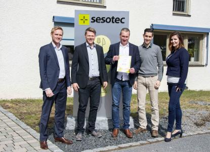 Sesotec's sales team was pleased to present the