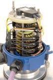 Detailansicht der robusten Schleifringübertrager speziell für Baumaschinen inkl. Encoder