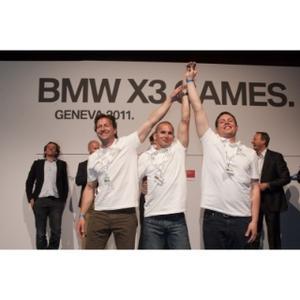 BMW X3 Games - The winners (from left to right): Szabolcs Majthényi, Miklós Vatai, Ádám Baksay-Szabó (04/2011)