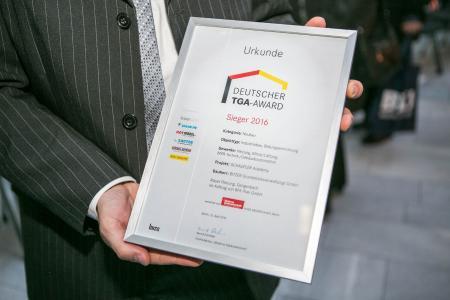 The official document of the DEUTSCHER TGA-AWARD 2016