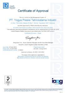 BU 0: Mit der Zertifizierung erhält YPTI die Zulassung, Bauteile für die Luft- und Raumfahrtindustrie zu liefern.