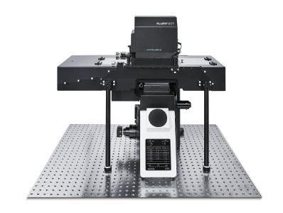 FluidFM BOT BIO Series mit einem voll integrierten Olympus IX83 Mikroskop.