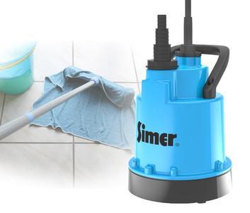 Mit einer Restwasserhöhe von nur 2 mm hinterlässt die neue SIMER  Pumpe ihren Wirkungskreis wischtrocken (Foto: Pentair Jung Pumpen, Steinhagen)