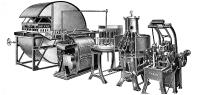 One of the early winery bottle systems with a Holstein & Kappert bottle brushing system and the Nova Practica soaking machine.