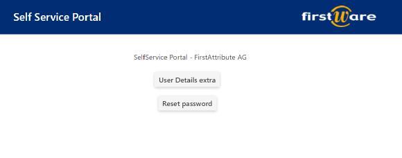 Password Reset Self Service mit IDM-Portal von der FirstAttribute