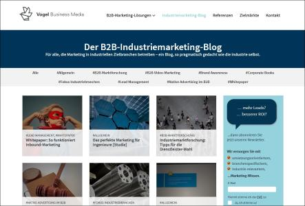 Vogel Business Media launcht den ersten B2B-Marketing-Blog für Industriethemen (Foto: Vogel Business Media)