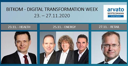 Arvato Systems Experts at Inudstry Conferences of BITKOM's Digital Transformation Week