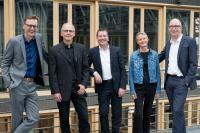 Das neue Präsidium der HsH (v.l.): Prof. Dr. Fabian Schmieder, Dr. Georg Frischmann, Prof. Dr. Josef von Helden, Prof.in Dr.in Dörte Heüveldop, Prof. Dr.-Ing. Martin Grotjahn