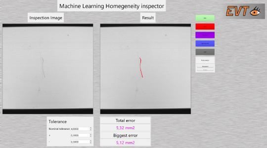 ML Homogeneity Inspector zur Detektion von Kratzern