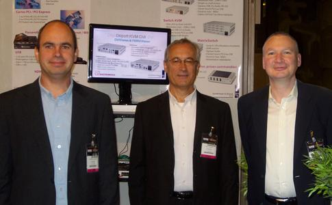 From left to right: Frédéric Collino, Onelio Collino, Frank Noelken