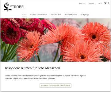 """Blumen online verkaufen mit dem """"feine blumen"""" Shopsystem der feinen bande: feineblumen.de"""