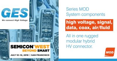 GES shows Series MOD, a modular hybrid HV connector system for complex applications