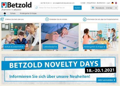 Neuer B2B-Onlineshop für Großkunden: Bildungsspezialist Betzold vertraut auf Software-Infrastruktur von novomind. Copyright: Betzold / novomind