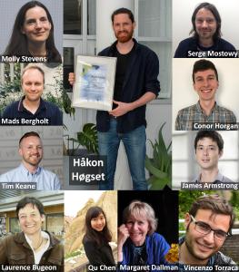 Gold winner Håkon Høgset (now at the Hybrid Technology Hub at the University of Oslo, Norway) surrounded by his co-authors from Imperial College London and the London School of Hygiene & Tropical Medicine (UK). © Håkon Høgset, Hybrid Technology Hub at the University of Oslo, Norway