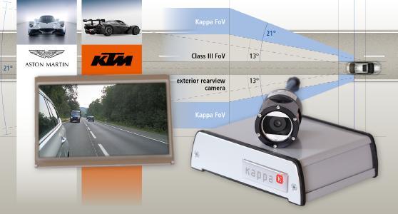 Hypercars, Sportwagen und Luxusautos setzen auf den digitalen Spiegel von Kappa optronics