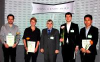 Georg Surber, Sophie Kühne, Dietmar Lerche, Awarded Young Scientist 2018 Christian Ullmann, Wen Yong-zhu (from left to right)