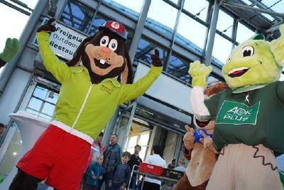 sport.aktiv-Maskottchen Tommy Turnschuh freut sich schon auf dieses Wochenende.
