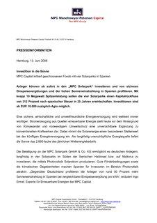 mpc münchmeyer petersen capital ag aktie