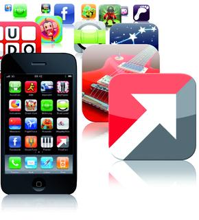 Mit FlowFact for iPhone wird das iPhone zum mobilen Maklerbüro.