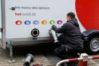 Geschulte und erfahrene Hotmobil-Servicetechniker führen die thermische Desinfektion direkt am Einsatzort durch, Bildquelle: Hotmobil