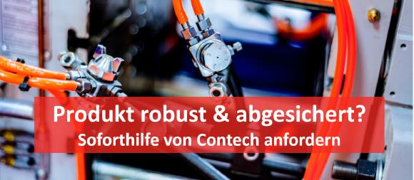 Die KI-gestützte Soforthilfe Prototyp von Contech unterstützt Industrie-Unternehmen dabei, Fehler im Produktdesign schnell zu identifizieren und Lösungen zu implementieren.