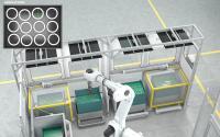 Wickert: Neuer kompakter rüstfreier Multifunktionsgreifer zum Handling mehrlagig gestapelter Bauteile mit Lagentrennung