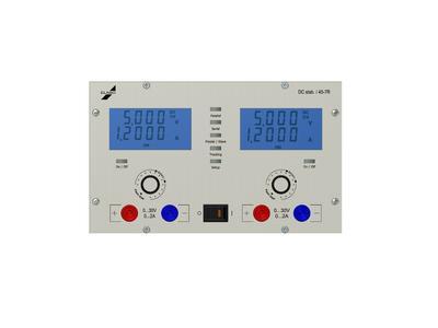 Die Labornetzgeräte fügen sich harmonisch und nahtlos in den 3HE -sowie in den 6 HE - Aufbau ein.