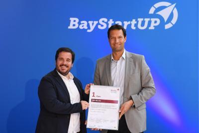 1. Platz Münchener Businessplan Wettbewerb 2020: NEUREVO / (c) BayStartUP/Andreas Gebert