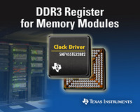 TI Introduces Industry's First DDR3 Register for Memory Modules