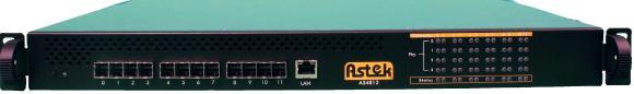 Der SAS-Switch A54812-SW von Astek belegt nur eine Höheneinheit.